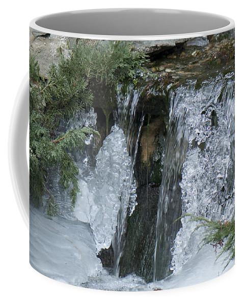 Koi Pond Coffee Mug featuring the photograph Koi Pond Waterfall by Steven Natanson
