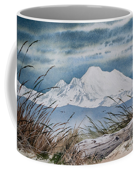 Landscape Fine Art Print Coffee Mug featuring the painting Koma Kulshan by James Williamson