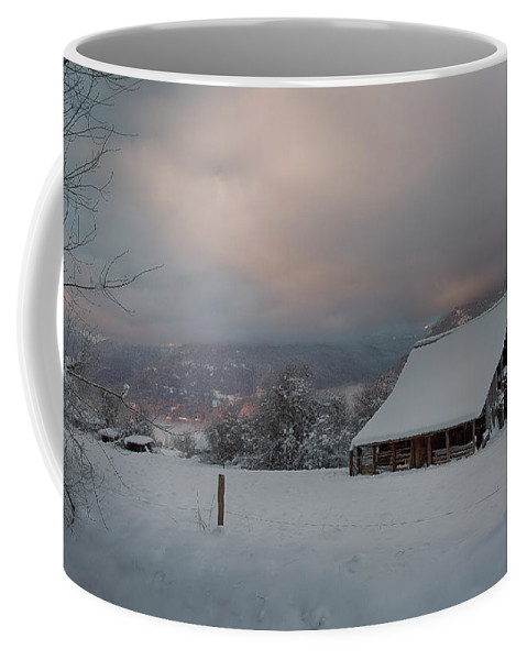 Bonners Ferry Coffee Mug featuring the photograph Kootenai Valley Barn by Idaho Scenic Images Linda Lantzy