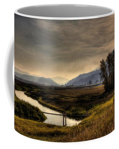 Scenic Coffee Mug featuring the photograph Kootenai Wildlife Refuge In Hdr by Lee Santa