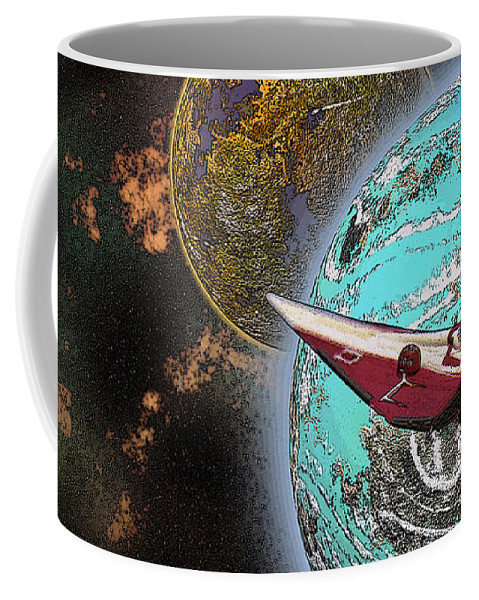 Kosmos Coffee Mug featuring the photograph 10114 Starfighters by Colin Hunt