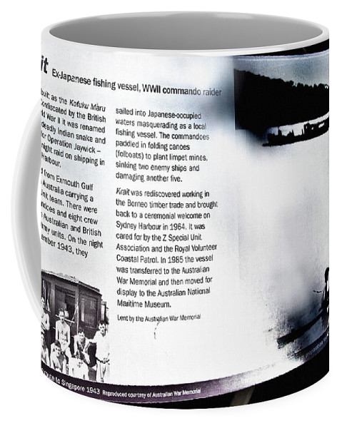 Krait Coffee Mug featuring the photograph Mv Krait Historical Information by Miroslava Jurcik