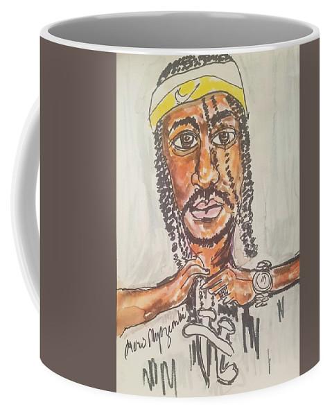 Krayzie Bone Coffee Mug featuring the drawing Krayzie Bone by Geraldine Myszenski