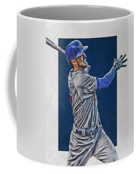 Kris Bryant Coffee Mug featuring the mixed media Kris Bryant Chicago Cubs Art 3 by Joe Hamilton
