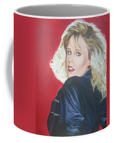 Blonde Coffee Mug featuring the painting Kristi Sommers by Bryan Bustard