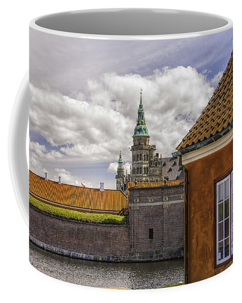 Denmark Coffee Mug featuring the photograph Kronborg Castle From The Moat House by Antony McAulay