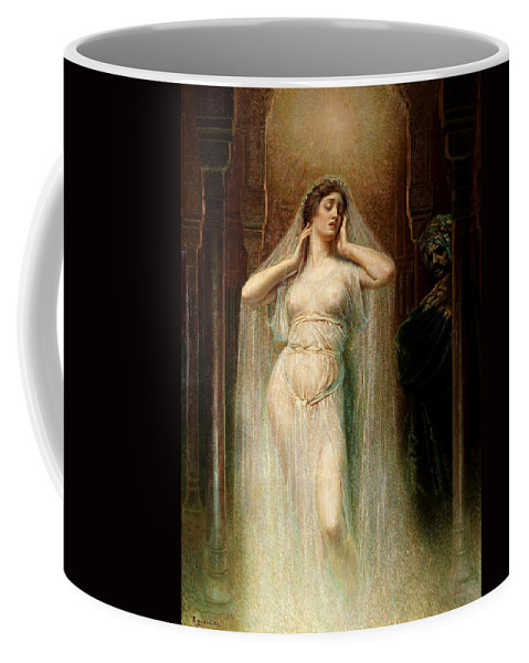 Rogelio De Egusquiza Coffee Mug featuring the painting Kundry by Rogelio de Egusquiza