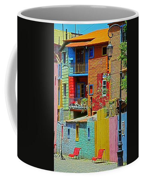 South America Coffee Mug featuring the photograph La Boca - Buenos Aires by Juergen Weiss
