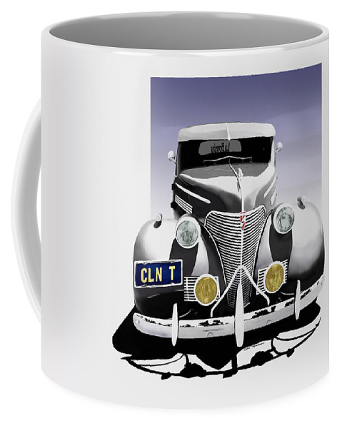 Chevrolet Coffee Mug featuring the painting La Bomba Lowrider by MOTORVATE STUDIO Colin Tresadern