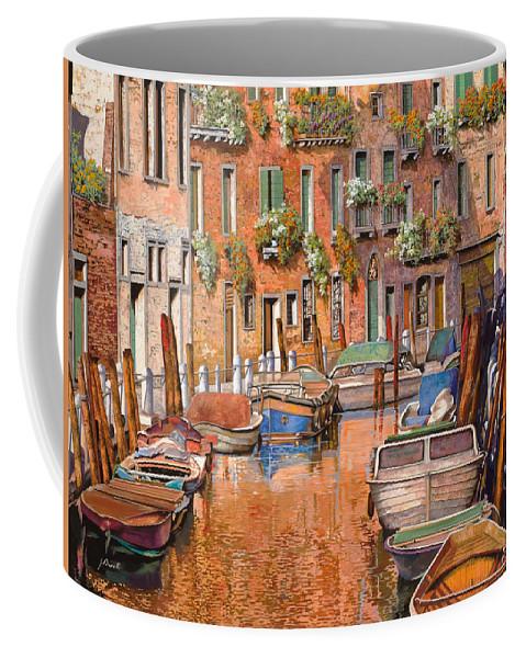 Venice Coffee Mug featuring the painting La Curva Sul Canale by Guido Borelli