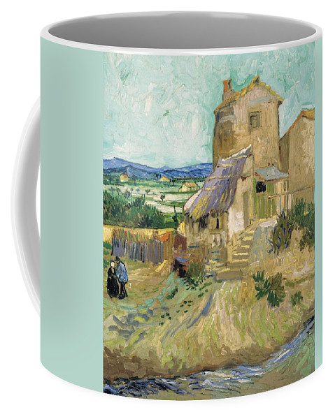 Art Coffee Mug featuring the painting La Maison De La Crau The Old Mill by Artistic Panda