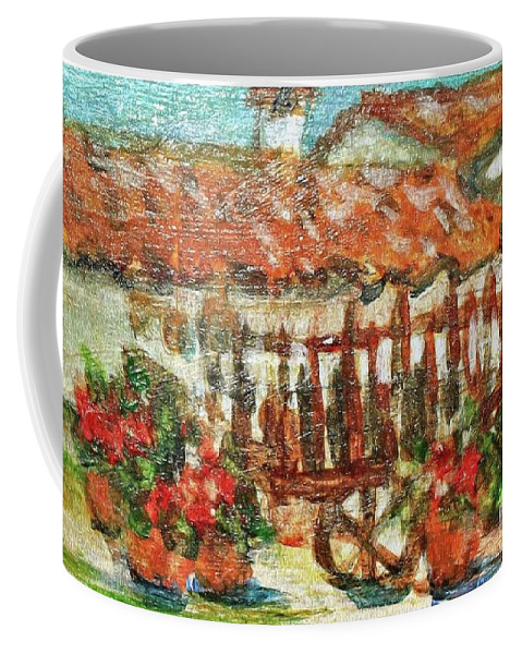 Spain Coffee Mug featuring the painting La Mancha by Mindy Newman