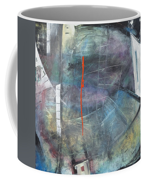 Abstract Coffee Mug featuring the painting La Mort Au Cirque by Tim Nyberg