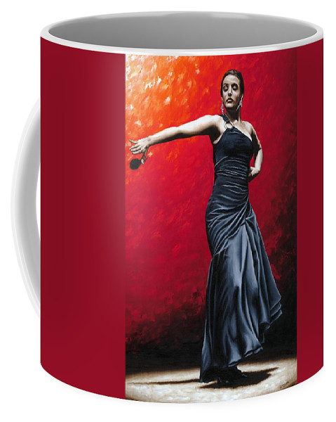 Noble Coffee Mug featuring the painting La Nobleza Del Flamenco by Richard Young