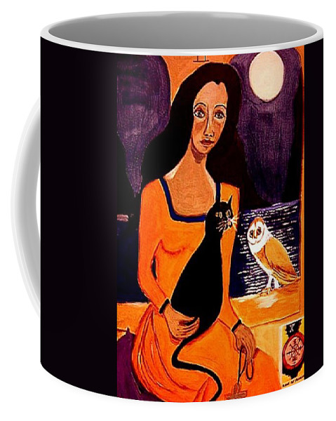 Occult Coffee Mug featuring the painting La Papesse by Rusty Gladdish
