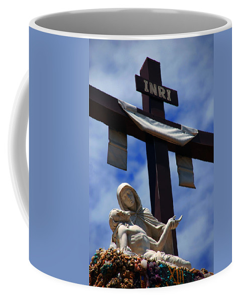 Mother Mary Coffee Mug featuring the photograph La Pieta by Susanne Van Hulst