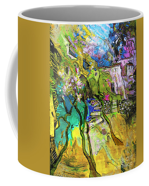 Landscape Coffee Mug featuring the painting La Provence 02 by Miki De Goodaboom