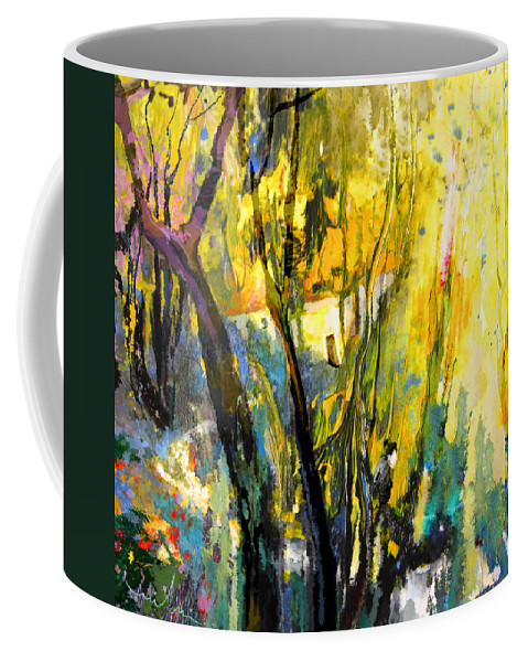 Acrylics Coffee Mug featuring the painting La Provence 21 by Miki De Goodaboom