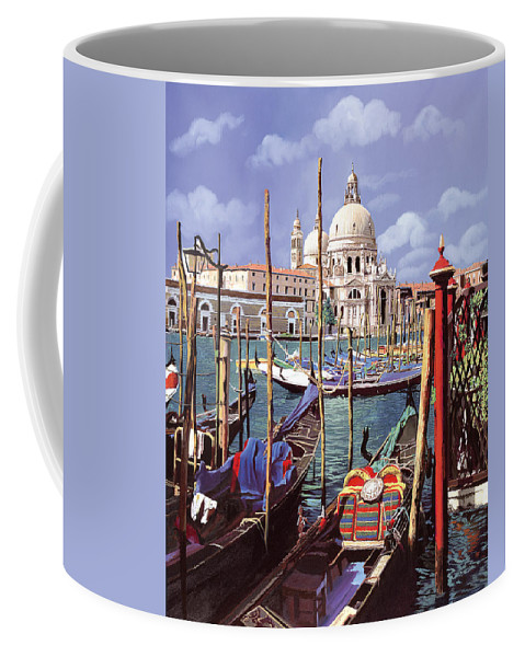 Church Coffee Mug featuring the painting La Salute by Guido Borelli