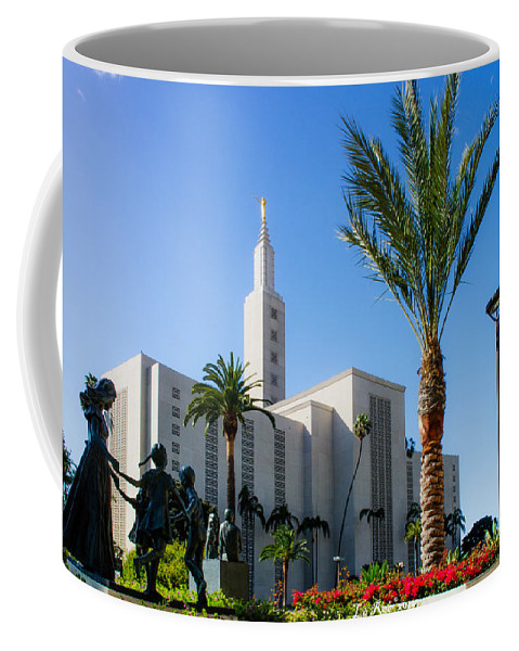 Lds Temple Photography Coffee Mug featuring the photograph La Temple Children by La Rae Roberts