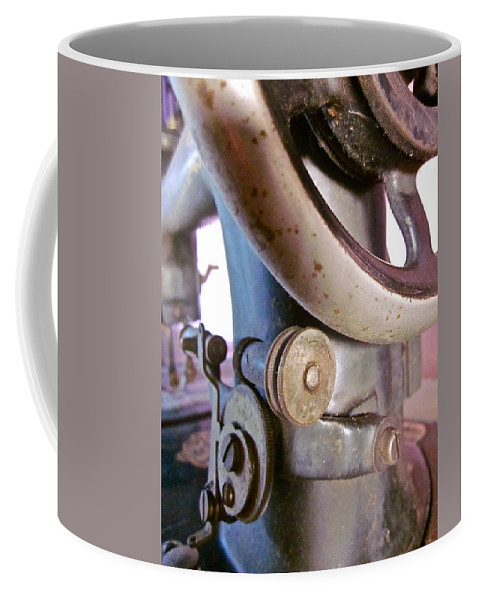 Photograph Of Sewing Machine Coffee Mug featuring the photograph Labor Of Love by Gwyn Newcombe