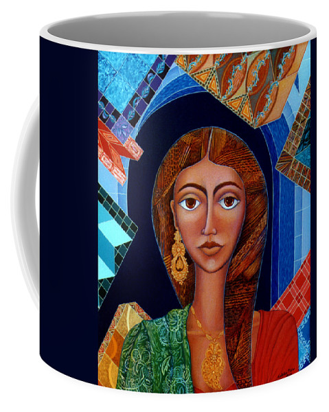 Painting Coffee Mug featuring the painting Labyrinth Of Memoirs by Madalena Lobao-Tello