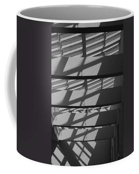 Black And White Coffee Mug featuring the photograph Ladders In The Sky by Rob Hans