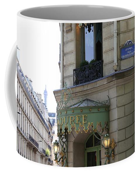 Laduree Coffee Mug featuring the photograph Laduree 1 by Andrew Fare