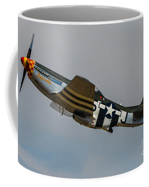 North American P-51d Mustang Coffee Mug featuring the photograph Lady Alice 3 by Tommy Anderson