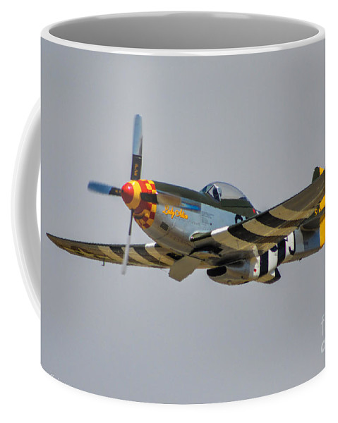 North American P-51d Mustang Coffee Mug featuring the photograph Lady Alice 4 by Tommy Anderson
