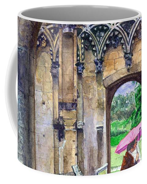 Glastonbury Coffee Mug featuring the painting Lady Chapel by John D Benson