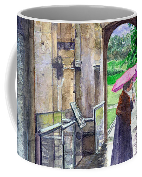 Glastonbury Coffee Mug featuring the painting Lady Chapel by John D Benson