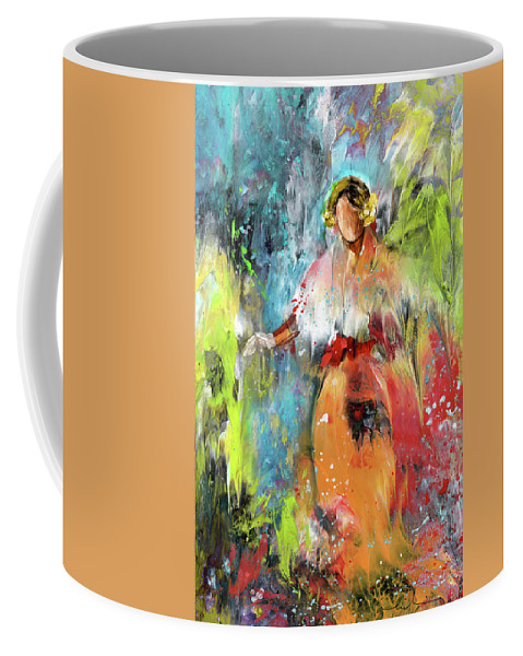 Downton Abbey Coffee Mug featuring the painting Lady Edith by Miki De Goodaboom