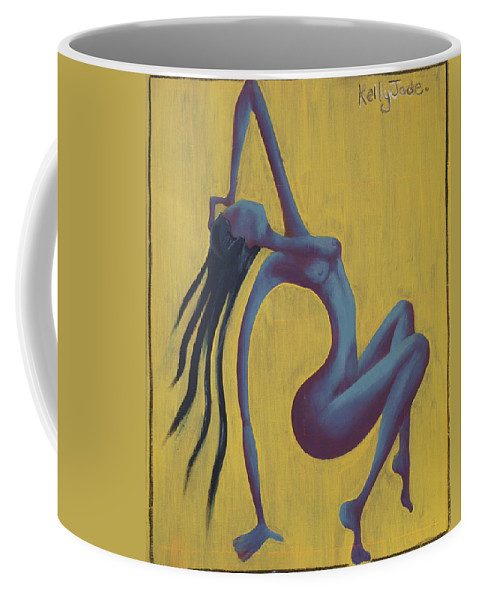 Egypt Coffee Mug featuring the painting Lady Egypt by Kelly Jade King
