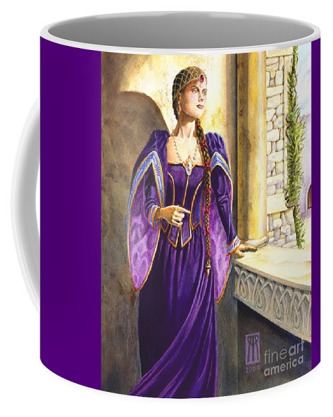 Camelot Coffee Mug featuring the painting Lady Ettard by Melissa A Benson