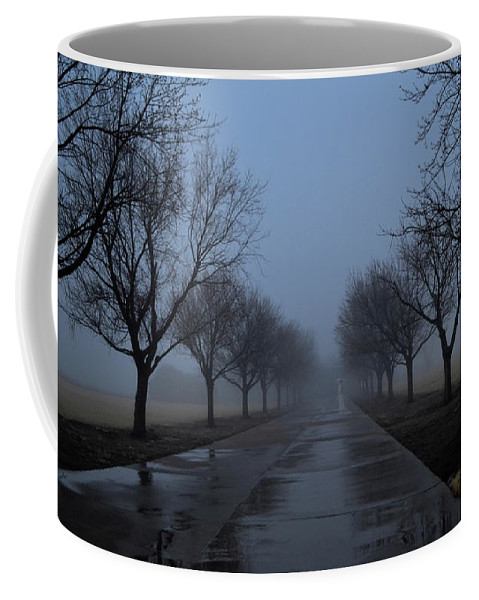 Fog Coffee Mug featuring the photograph Lady In White by Rebecca Fourcher