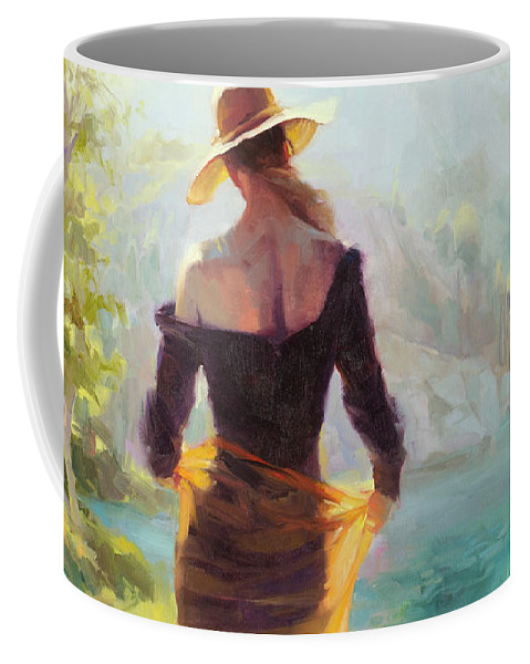 Woman Coffee Mug featuring the painting Lady of the Lake by Steve Henderson