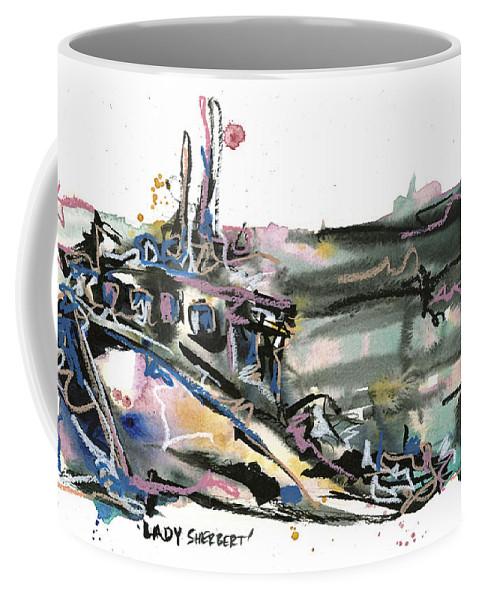 Seascape Coffee Mug featuring the painting Lady Sherbert by Robert Joyner
