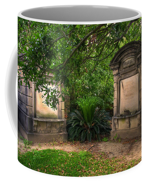 New Orleans Coffee Mug featuring the photograph Lafayette Crypts 1 by Tammy Wetzel