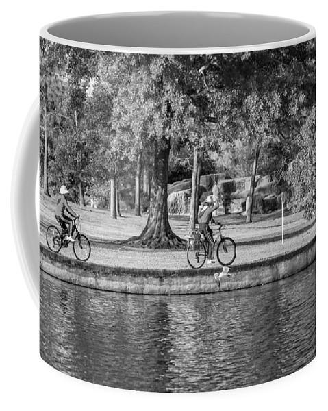 Lafreniere Park Coffee Mug featuring the photograph Lafreniere Park 3 - Bw by Steve Harrington