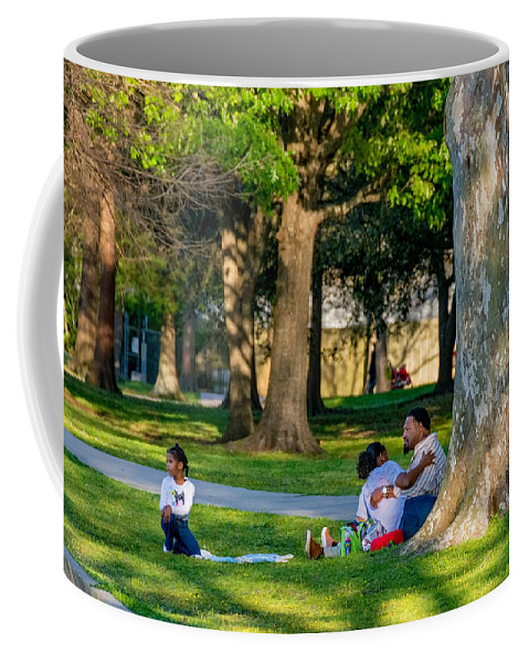 Togetherness Coffee Mug featuring the photograph Lafreniere Park by Steve Harrington