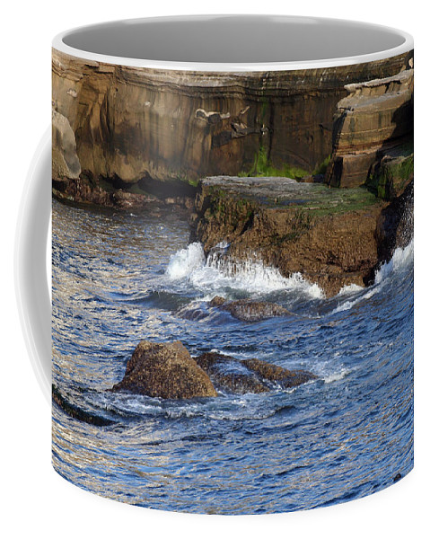 Ocean Coffee Mug featuring the photograph Lajolla Rocks by Margie Wildblood