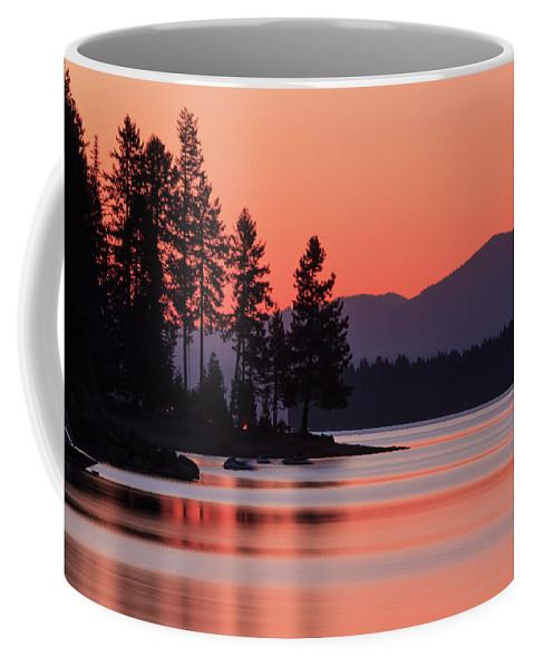 Landscape Coffee Mug featuring the photograph Lake Almanor Twilight by James Eddy