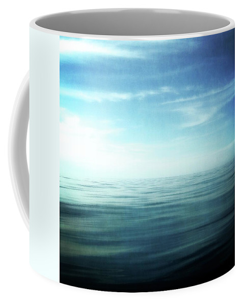 Blue Sky Coffee Mug featuring the photograph Lake And Sky by Michelle Calkins
