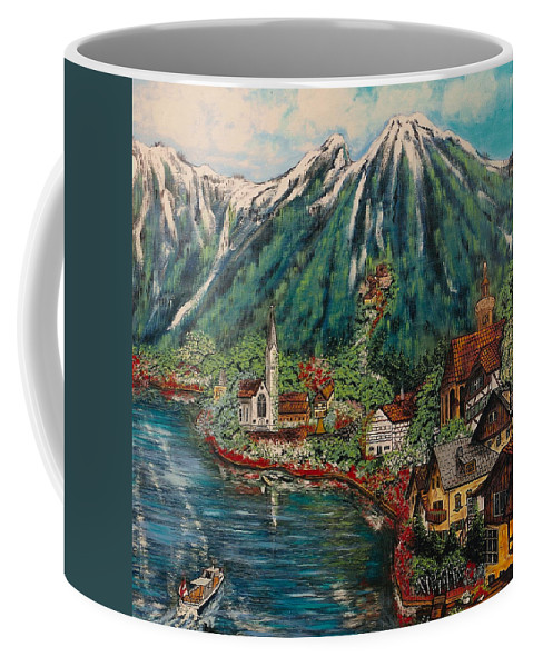 Austria Coffee Mug featuring the painting Lake Constance by V Boge