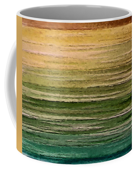 Abstract Art Coffee Mug featuring the painting Lake by Ely Arsha