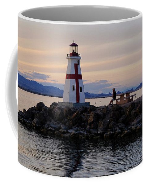 Sunset Coffee Mug featuring the photograph Lake Havasu Sunset by Barry Goble