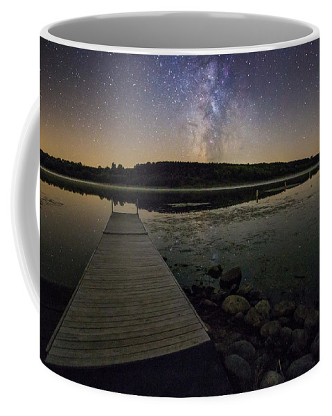 Milky Way Coffee Mug featuring the photograph Lake Lakota Way by Aaron J Groen