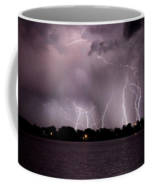 Lightning Coffee Mug featuring the photograph Lake Lightning 2 by James BO Insogna