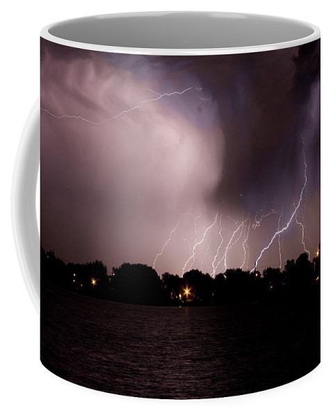 Lightning Coffee Mug featuring the photograph Lake Lightning 3 by James BO Insogna
